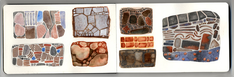 Watercolors-Of-Mexican-Tiles