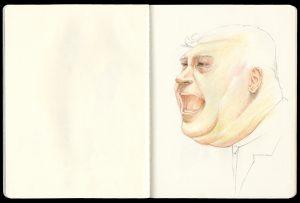Shouting man sketch by Iskra