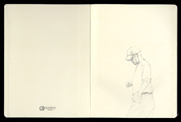 The-Catcher Pencil Drawing in Moleskine
