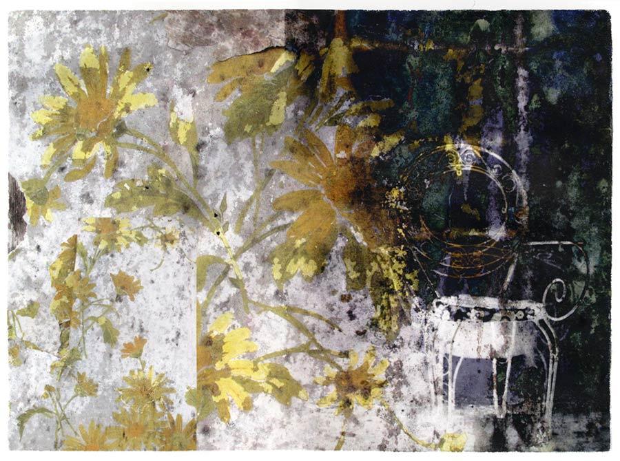 Contempler les Fleurs,transfe-print