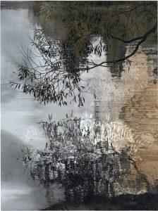 Willows, transfer print