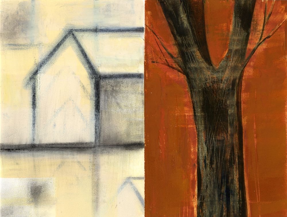House and Tree,mixed media,Iskra
