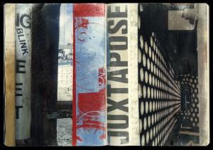 Juxtapose, transfer print journal