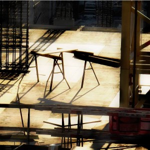 Composition with Sawhorses