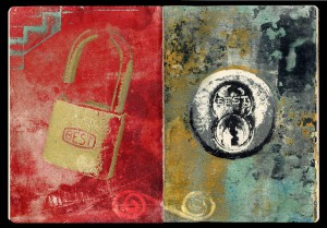 The Lock, transfer print journal