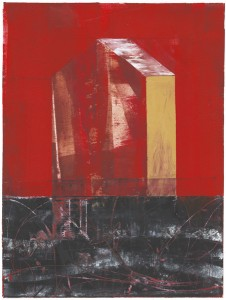The Red House, painting,Iskra