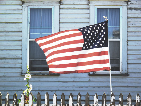 Flag_With_Hollyhocks