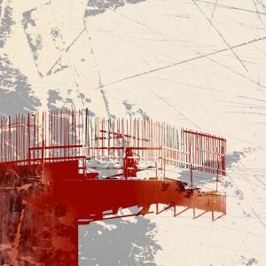 "Duwamish Platform, Digital Mixed Media Collage, 16"" x 16"""