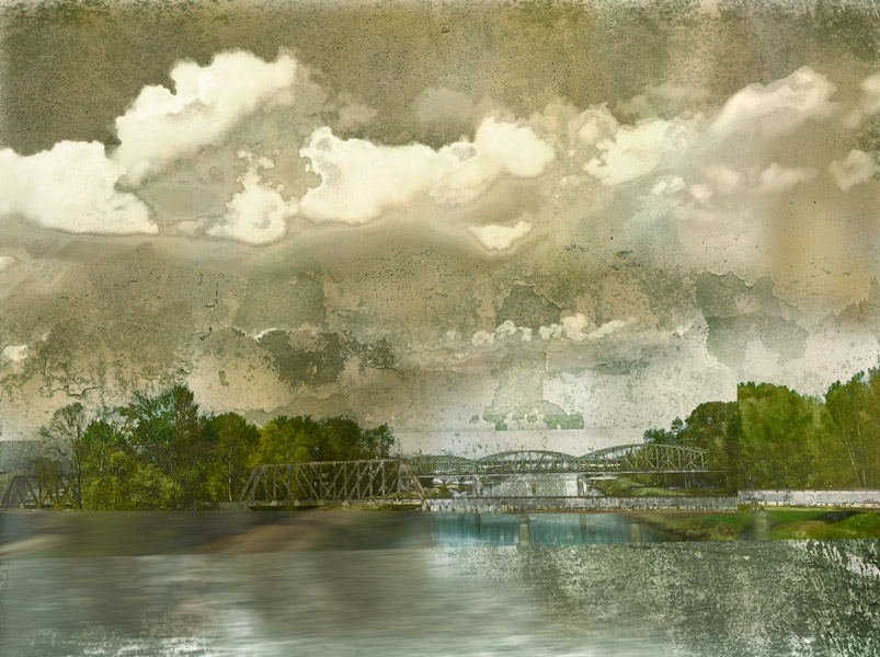 The Green Bridge Archival Print Iskra
