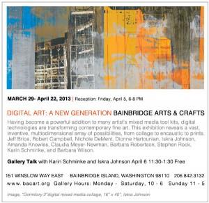 Bainbridge Arts & Crafts Digital Art Show Postcard