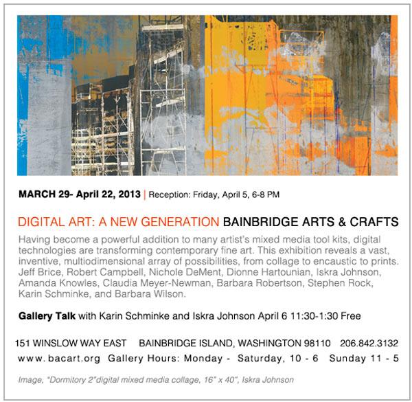 Bainbridge Arts & Crafts Digital Art Postcard
