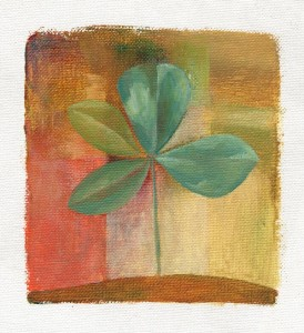 Four Leaf Clover Painting