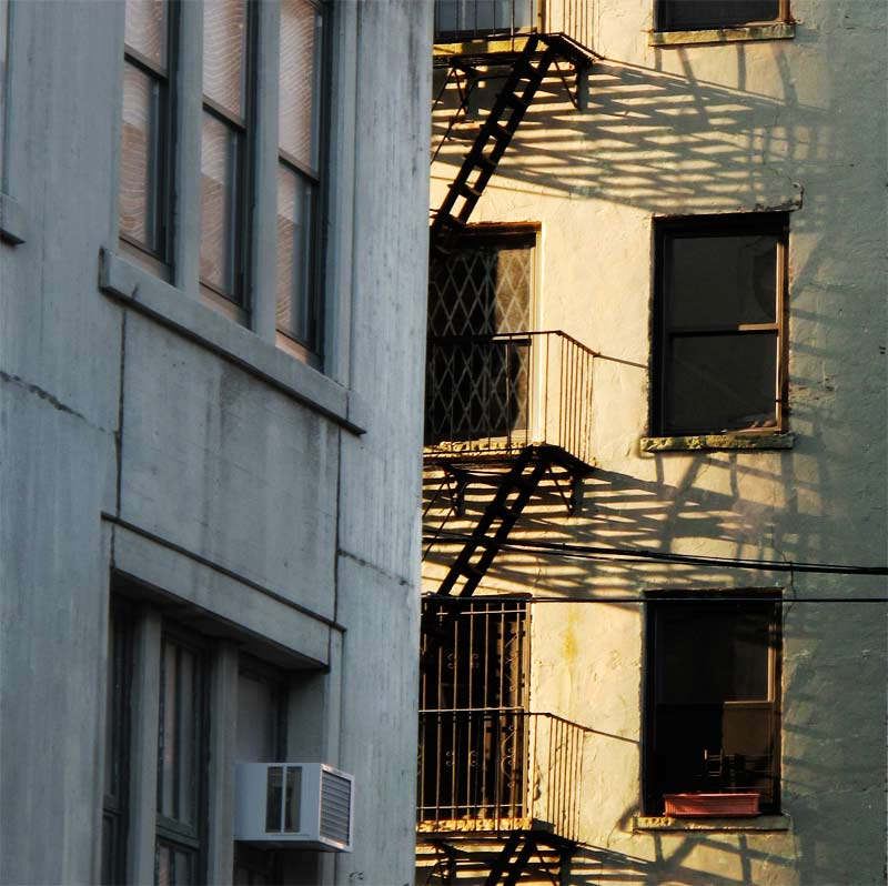 Manhattan Fire Escapes Morning