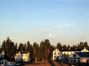 Fort Worden With Full Moon