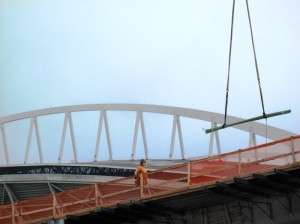 Construction Worker On Bridge