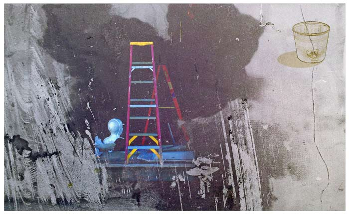 Ladder-&-Wall-Photocollage