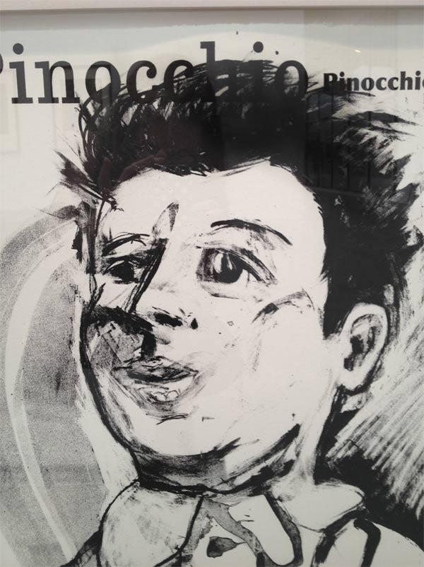 Jim Dine etching, Pinochio
