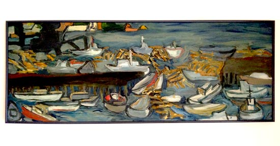 AlFriedmanPaintingOfBoats