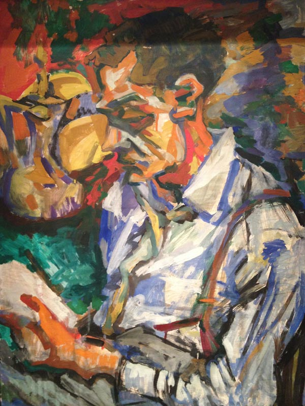 The_Reading_Man_Al_Friedman_Painting