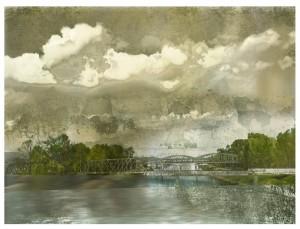 The Green Bridge, Archival Pigment print, by Iskra