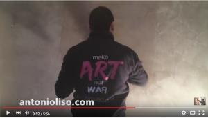 Man putting plaster on a wall, video still