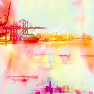 Harbor Morning Colorbath print by Iskra