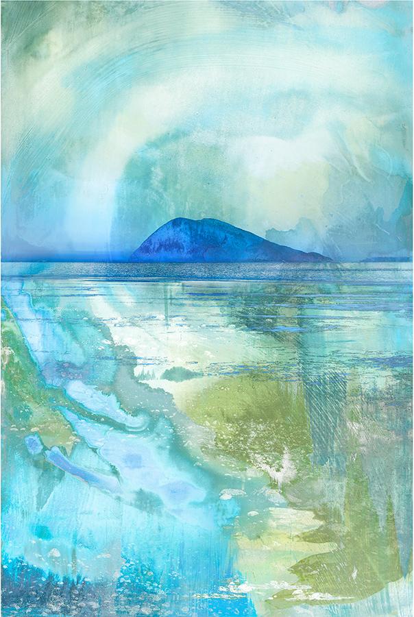 Lummi Blues print on panel by Iskra