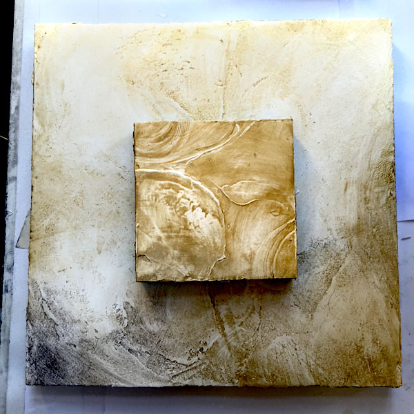 Plaster-in-process-surface