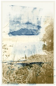 Mood Indigo, mixed media archival print © Iskra Johnson