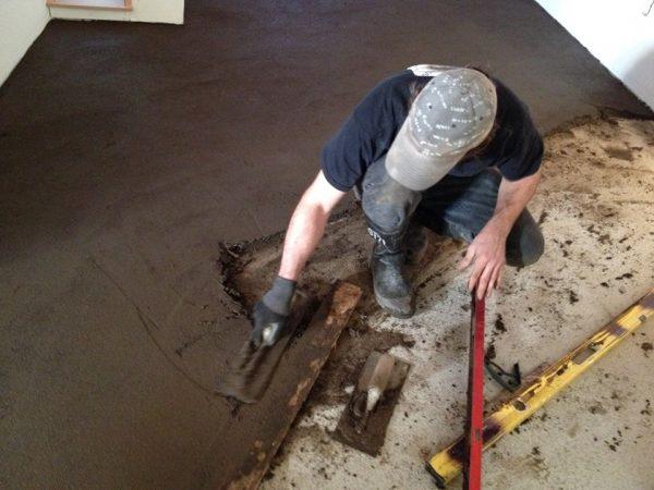 mud floor in process