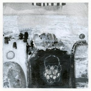 The Ancestors Abstract black and white painting