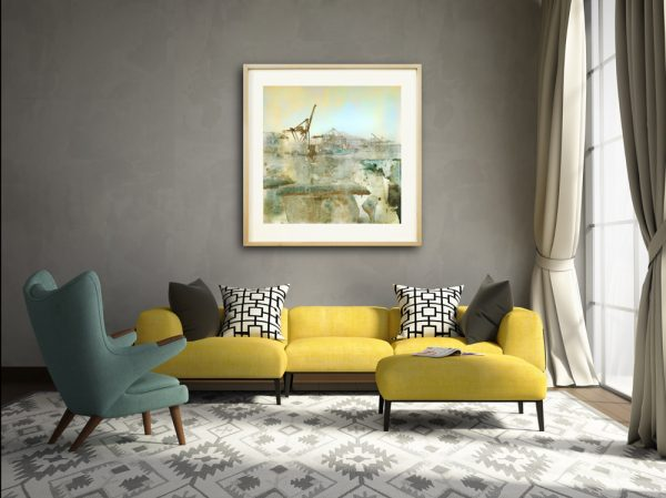 Celadon large print by Iskra on canvas in room
