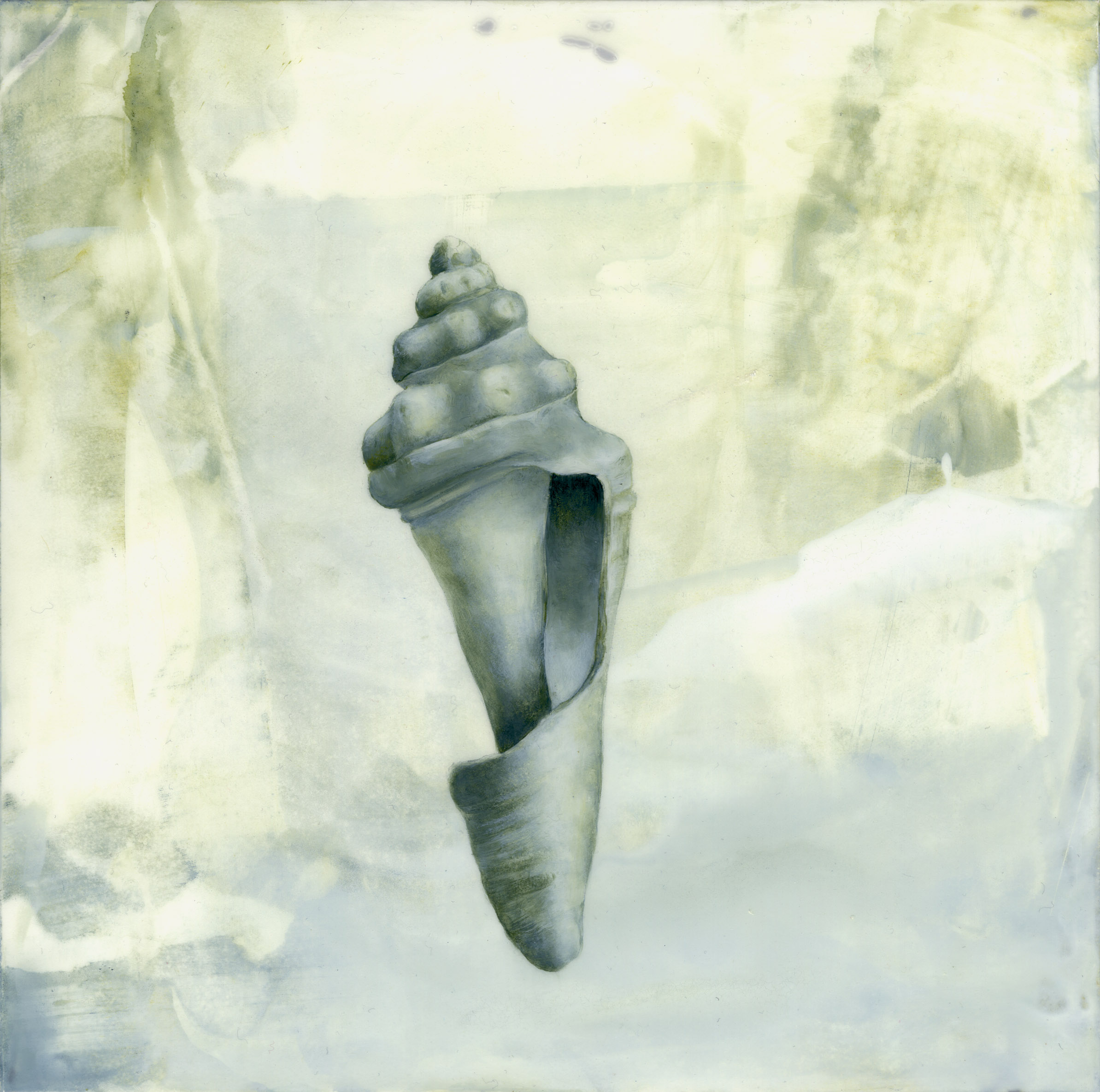 Spiral shell painting by Iskra