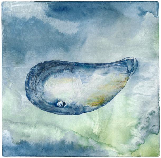 RefugeMussel shell painting © Iskra