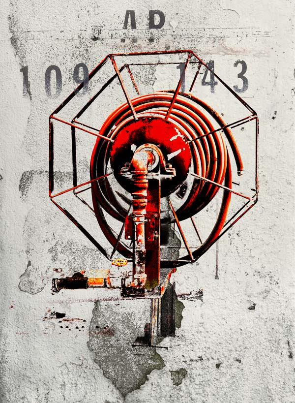 The Red Hose, Industrial Object #109 print by Iskra