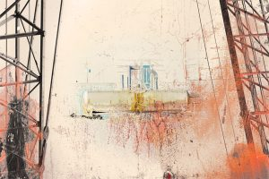 Industrial glimpse print by Iskra