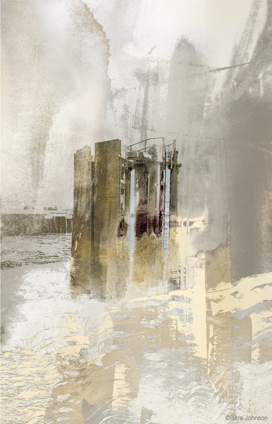 Pale Dolphin Industrial Art Print by Iskra