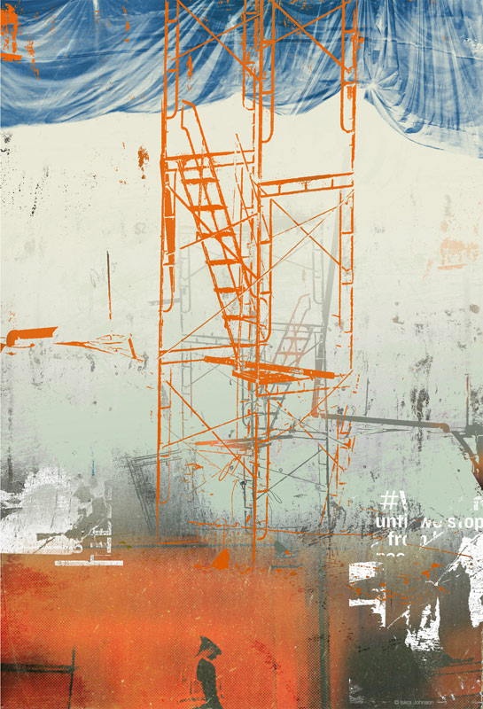 The Blue Tarp Iskra, Limited Edition Fine Art Print