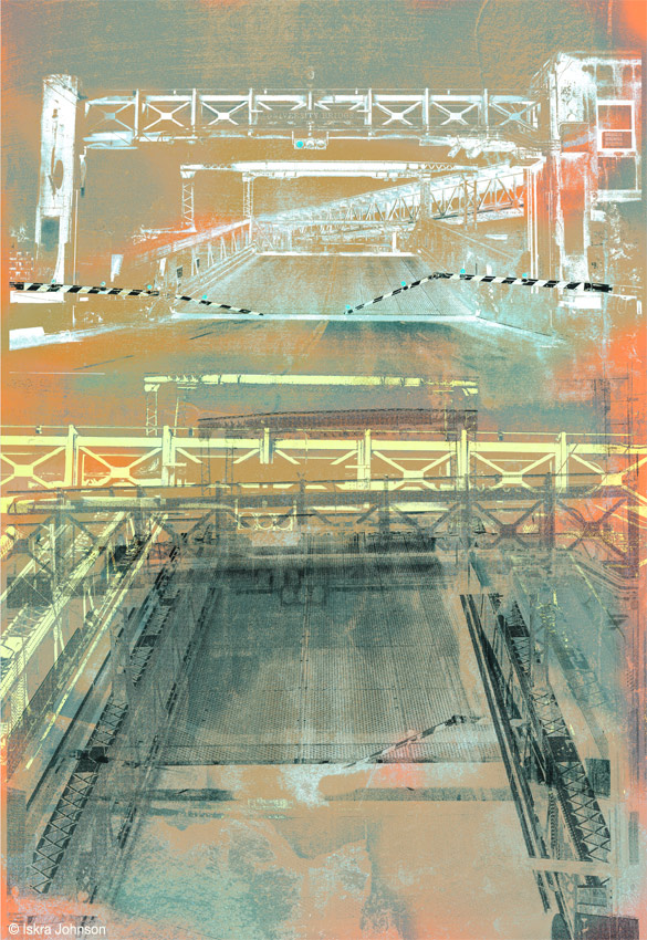 The Other Side, University Bridge Print by Iskra