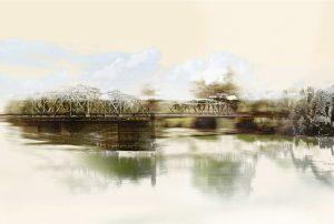 Liminal Shift Print of a Bridge by Iskra