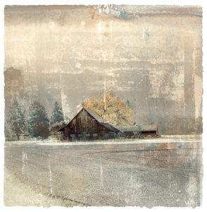 Evening Song Barn Print Iskra