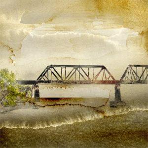 Morning bridge, Print by Iskra