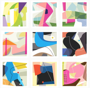 Leslie Newman Abstract Instagram
