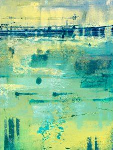 Blue Buoys Morning ColorBath print by Iskra