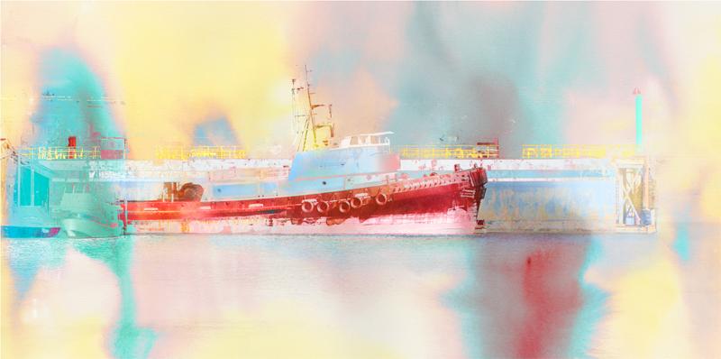 El Lobo Grande tugboat print by Iskra