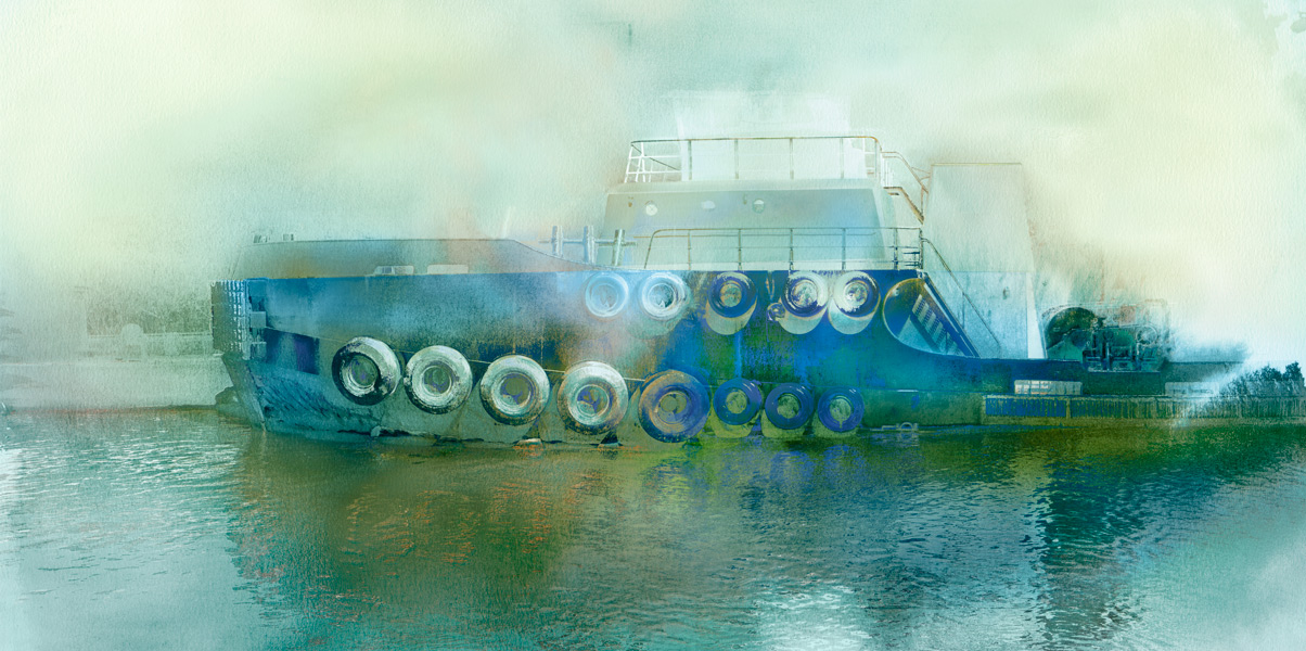 The Blue Tug by Iskra