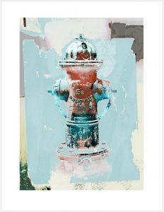 Mueller Five and a quarter Hydrant Print by Iskra