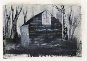 Hose of Winter Saltbox Painting by Iskra
