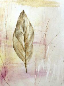 Leaf pastel drawingby Iskra