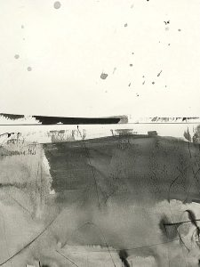 Snow landscape ink painting iskra